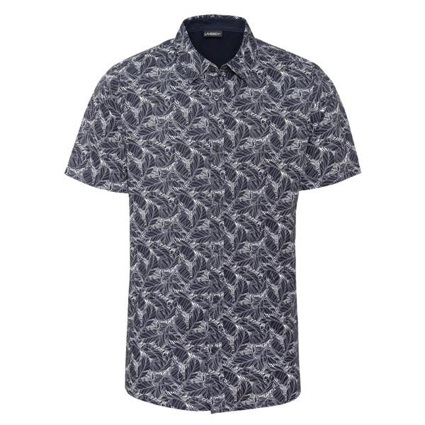 پیراهن آستین کوتاه مردانه لیورجی مدل 339469 رنگ سورمه ای