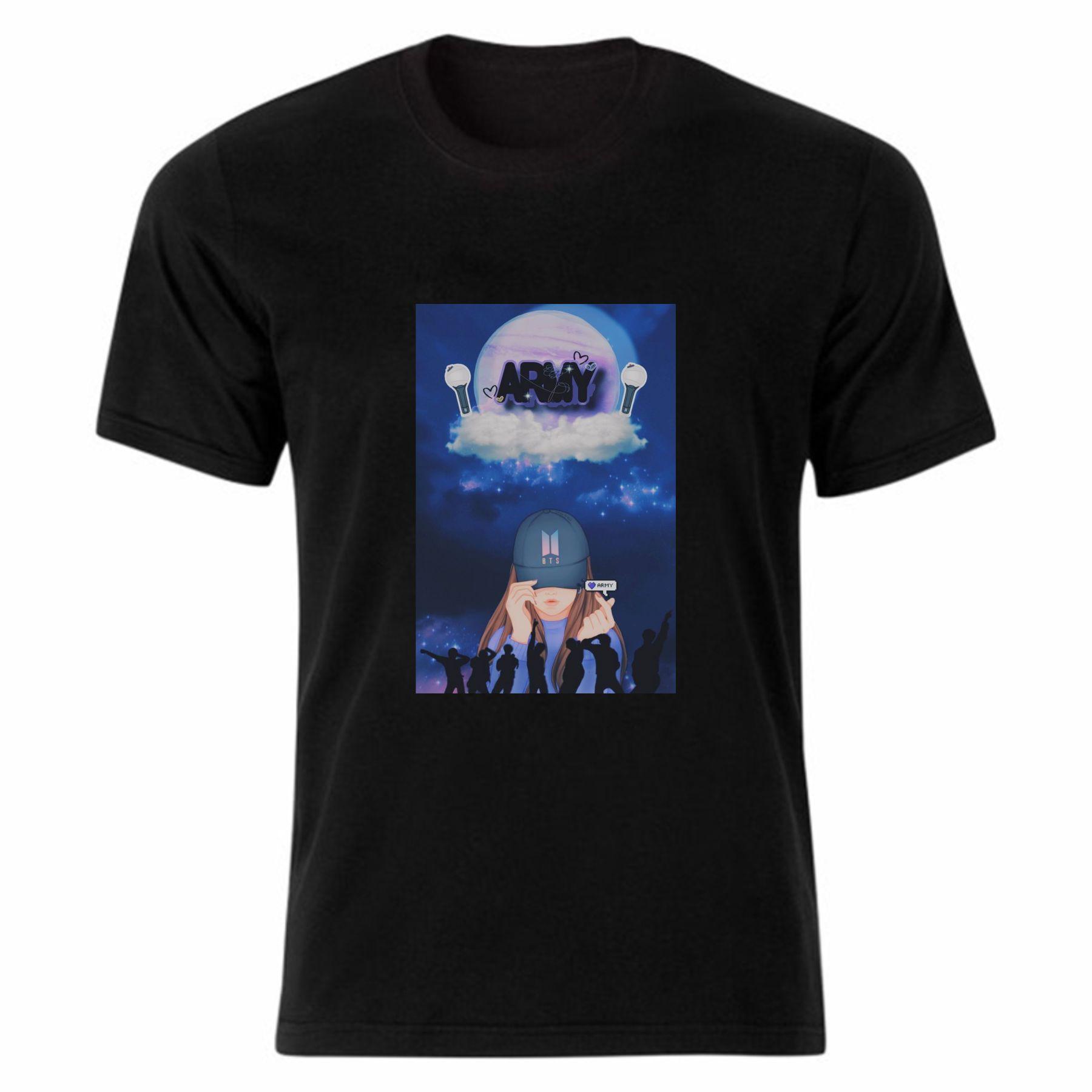 تی شرت آستین کوتاه زنانه مدل بی تی اس کد tme283