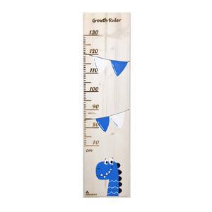 متر اندازه گیری کودک چوبکا طرح دایناسور آبی
