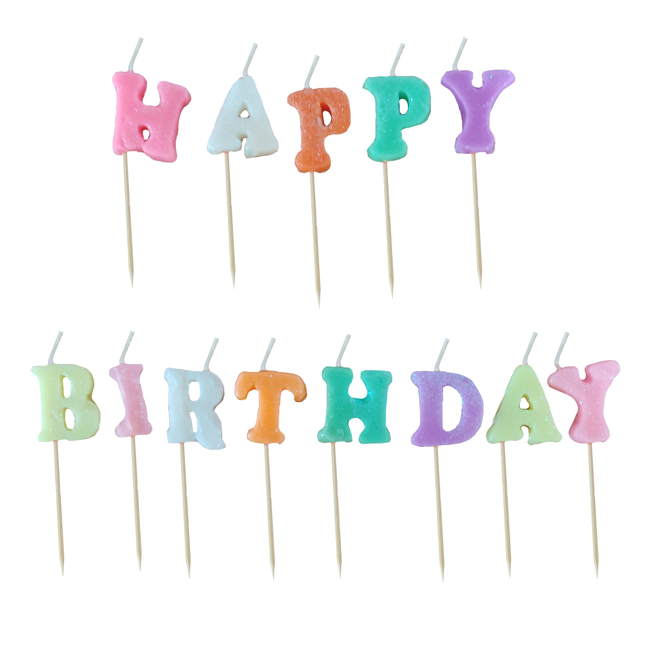شمع تولد کد HB2 مجموعه 13 عددی