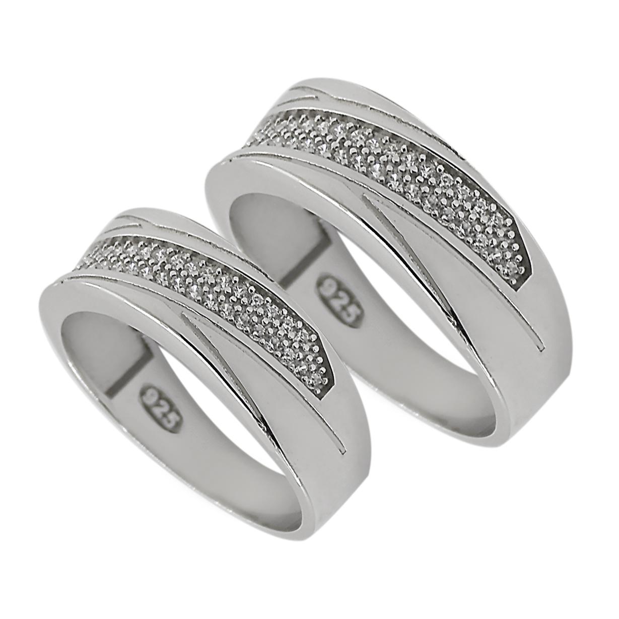ست انگشتر نقره زنانه و مردانه مدل po789441