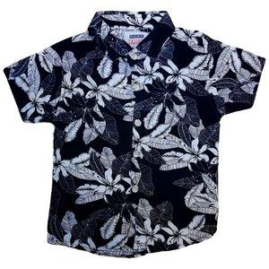 پیراهن پسرانه طرح هاوایی کد 00331028 رنگ سرمه ایی