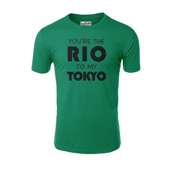تیشرت آستین کوتاه مردانه فانتازیو مدل 151 طرح Rio To My Tokio کد LCDP005