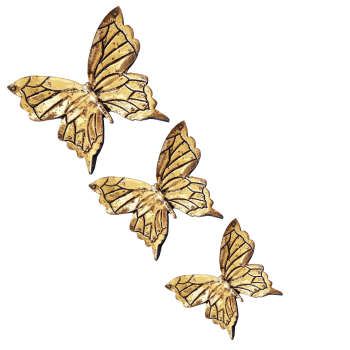 دیوارکوب طرح پروانه کد san_045 l مجموعه 3 عددی