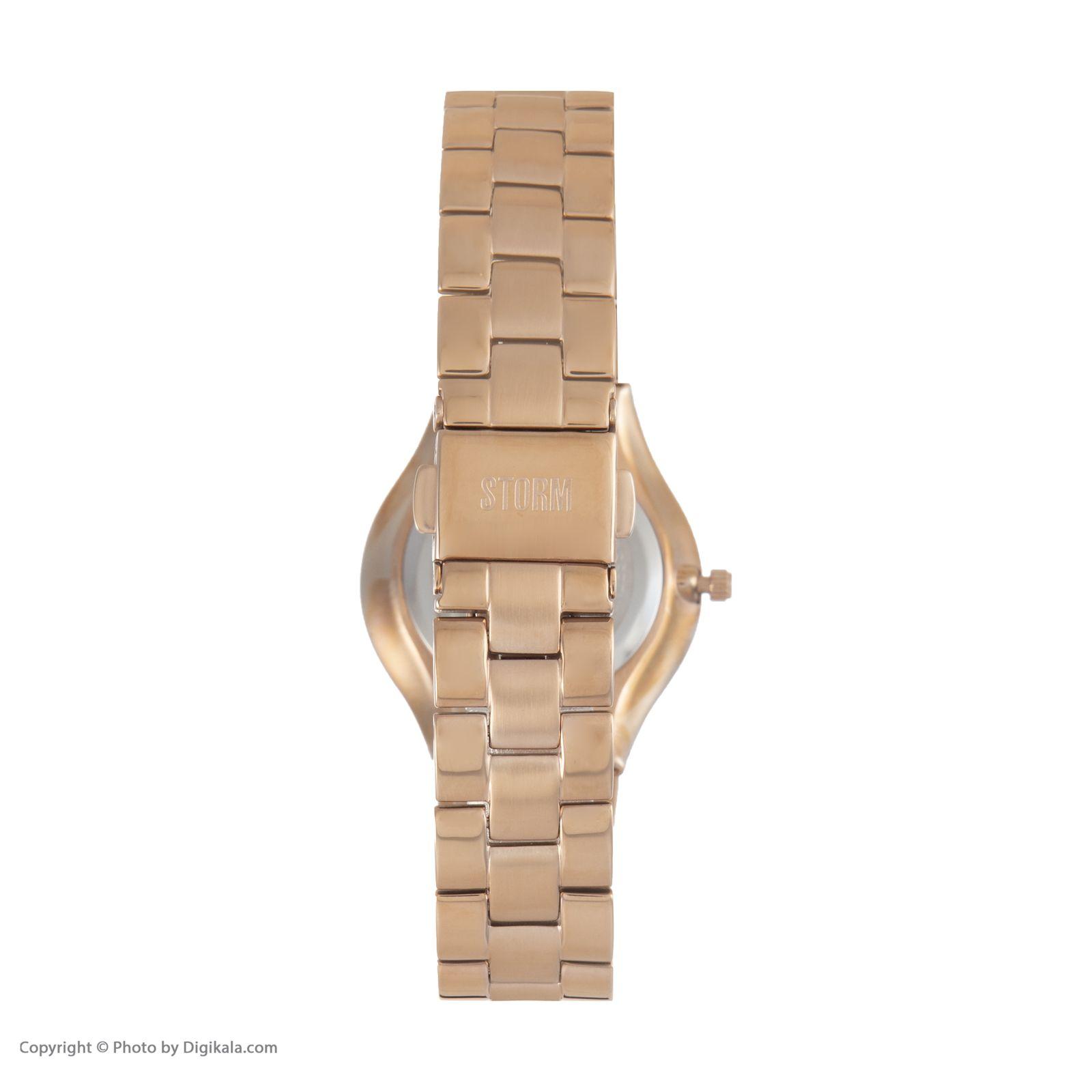 ساعت مچی عقربه ای زنانه استورم مدل ST 47158-RG -  - 5
