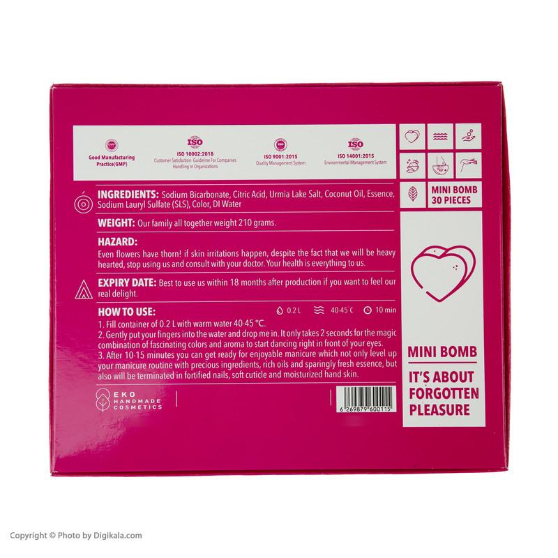 کوکتل مانیکور ژبن پلاس مدل Heart وزن 210 گرم بسته 30 عددی
