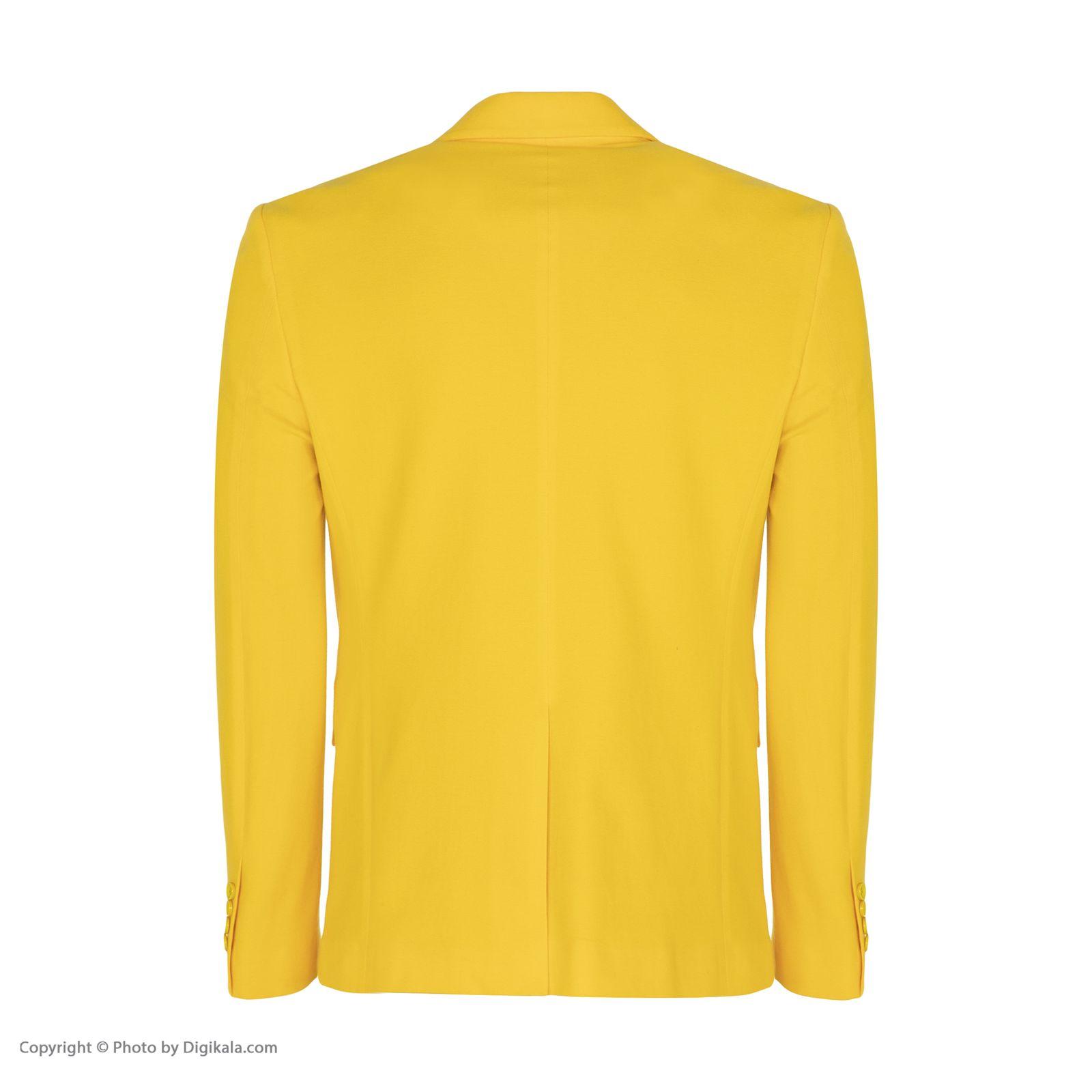 کت تک مردانه ان سی نو مدل جانسو رنگ زرد -  - 5
