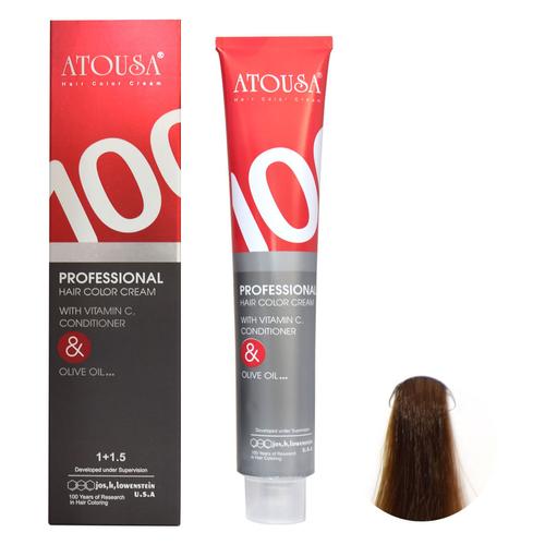 رنگ مو آتوسا  شماره 5/735  حجم 100 میلی لیتر رنگ چای دارچینی