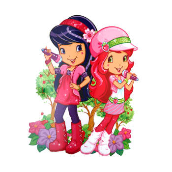 استیکر دیواری کودک طرح دختر توت فرنگی کد ۰۷