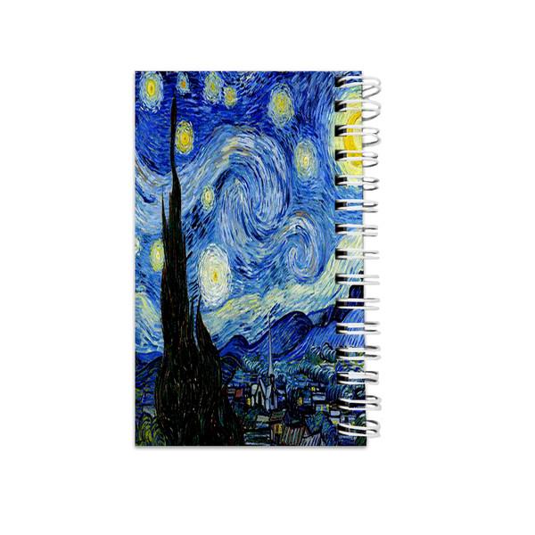دفترچه یادداشت مدل to do list طرح شب پر ستاره ونگوگ کد 1627927