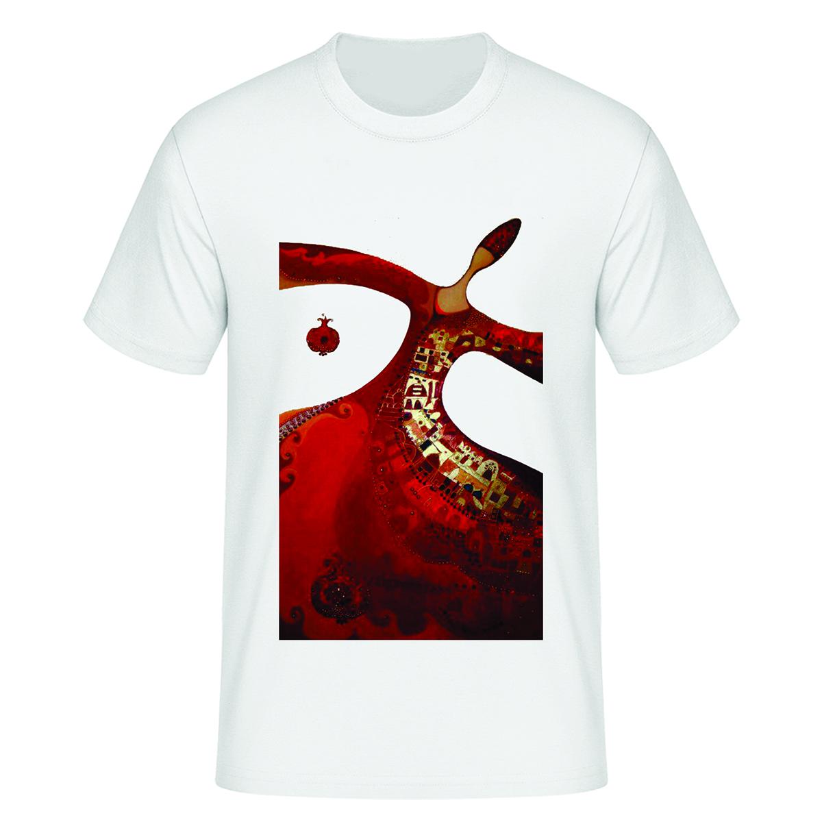 تی شرت آستین کوتاه زنانه مدل شب یلدا کد tps49
