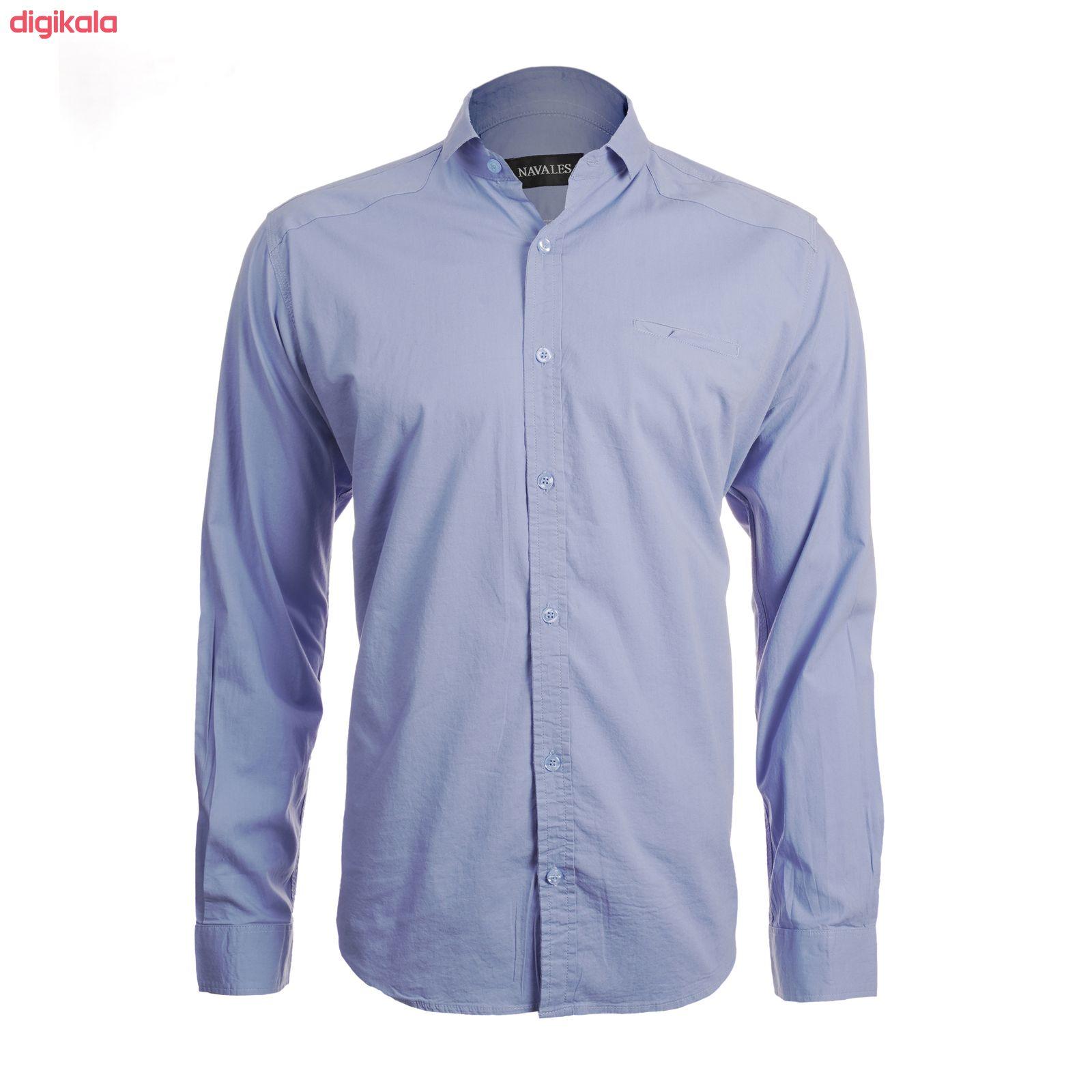 پیراهن آستین بلند مردانه ناوالس مدل PN-L main 1 5