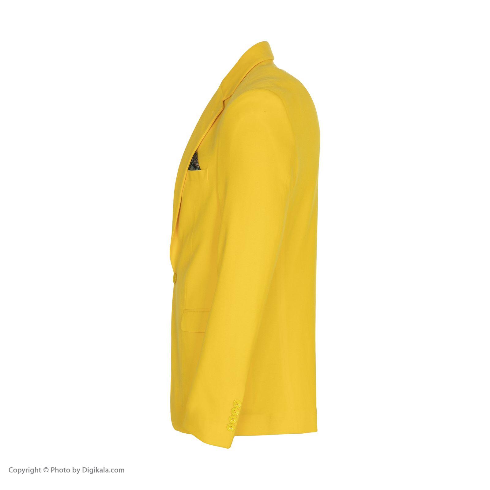 کت تک مردانه ان سی نو مدل جانسو رنگ زرد -  - 4