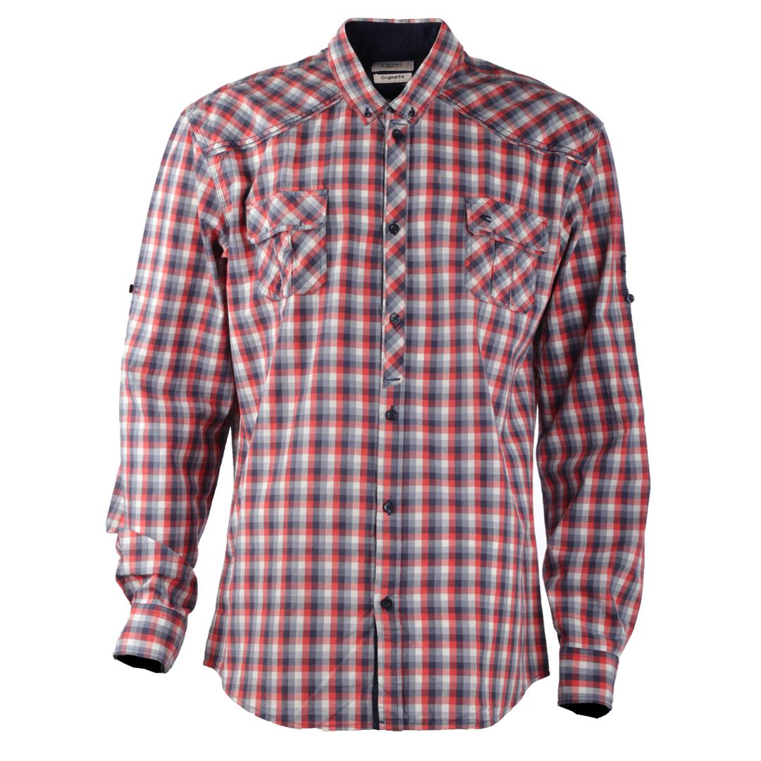 پیراهن آستین بلند مردانه کمل مدل 3MNS-2019-010