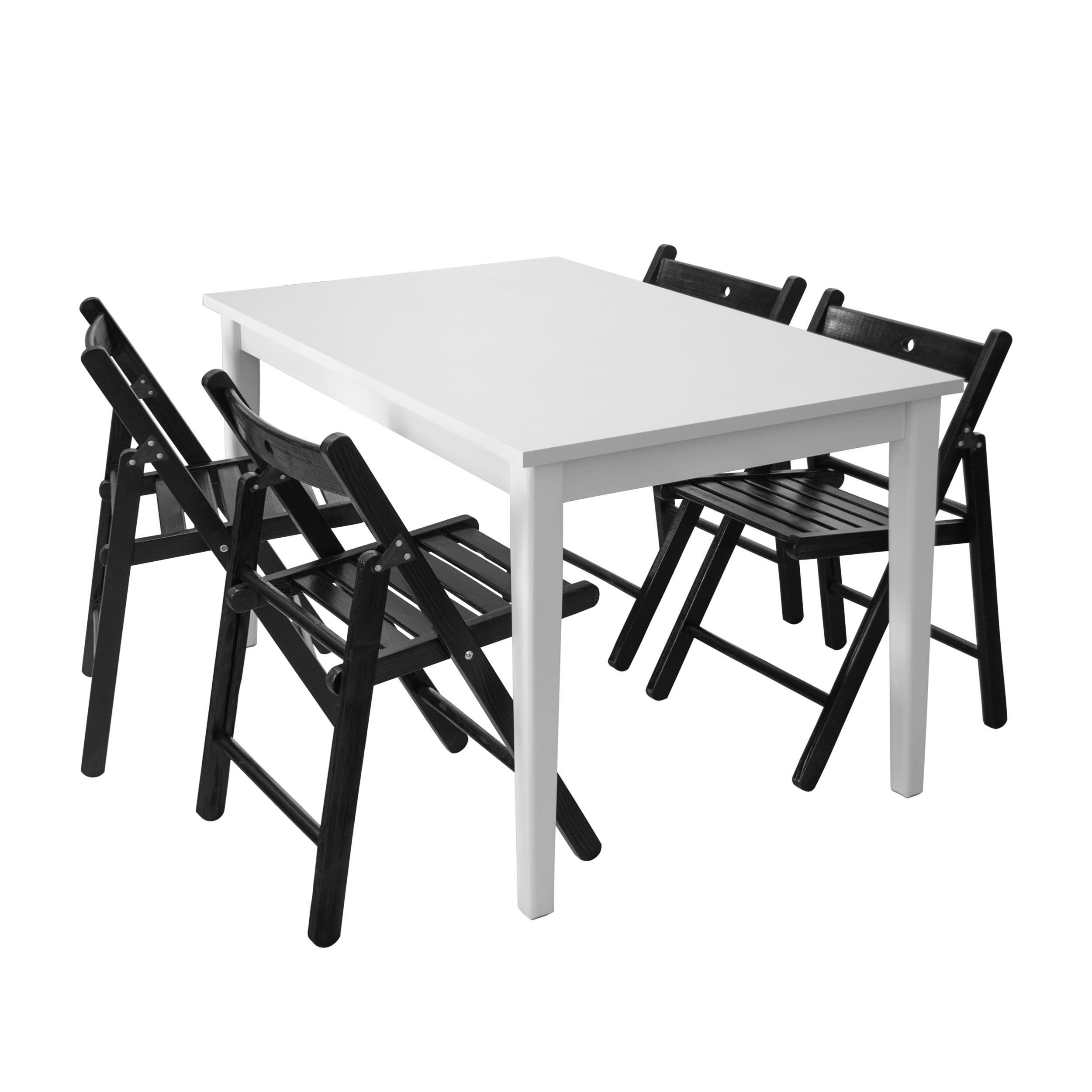 میز و صندلی ناهار خوری چهار نفره مدل نایت