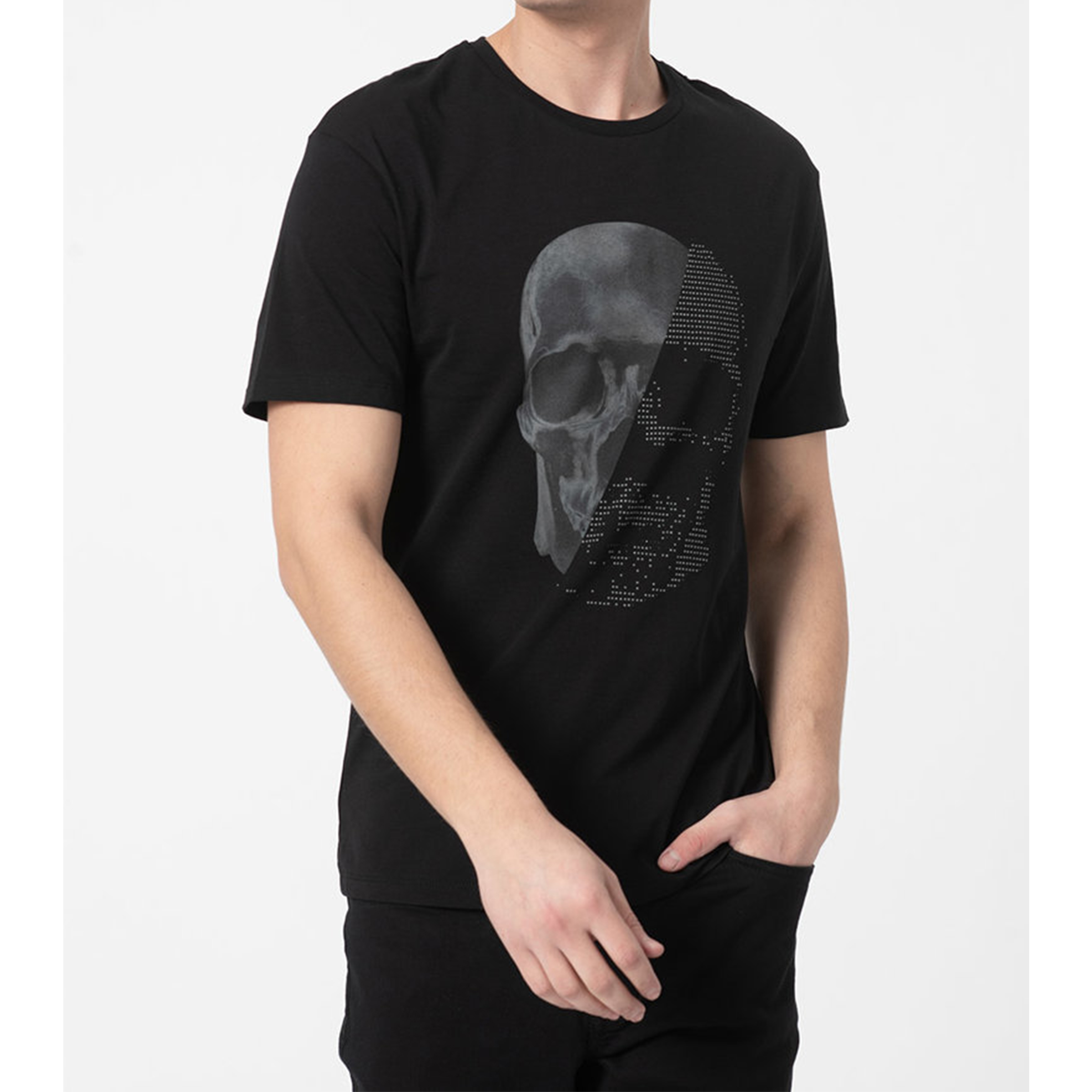 خرید                                     تیشرت آستین کوتاه مردانه جک اند جونز مدل 12195745 رنگ مشکی