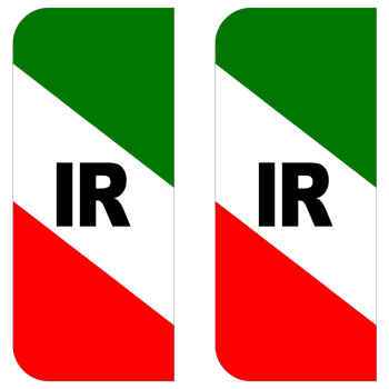 برچسب پلاک خودرو مستر راد طرح پرچم ایران مدل 1221بسته دوعددی