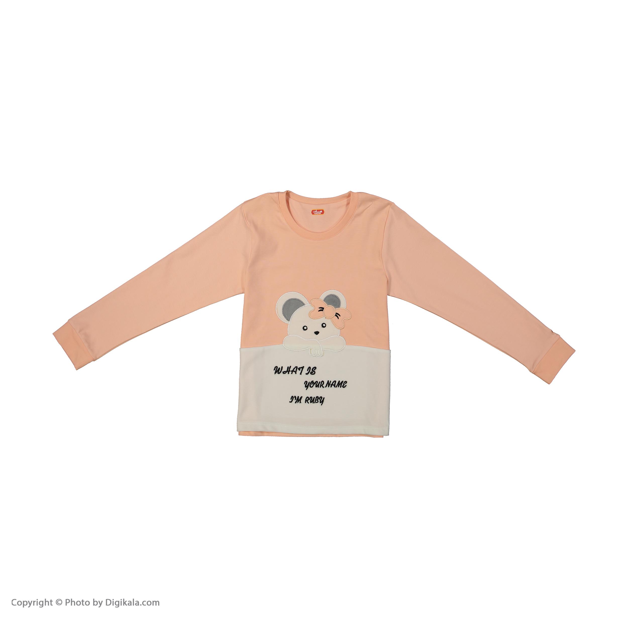 ست تی شرت و شلوار دخترانه مادر مدل 301-80 main 1 2