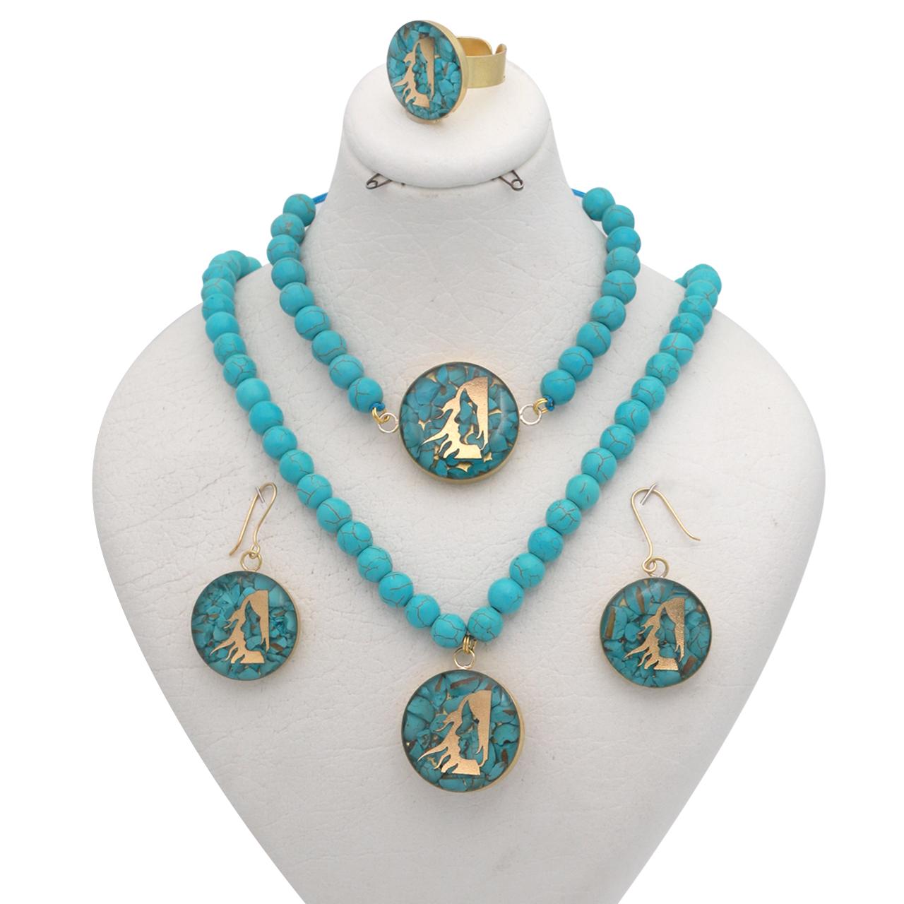 ست طلای 24 عیار زنانه طرح نماد شهریور کد 10006F