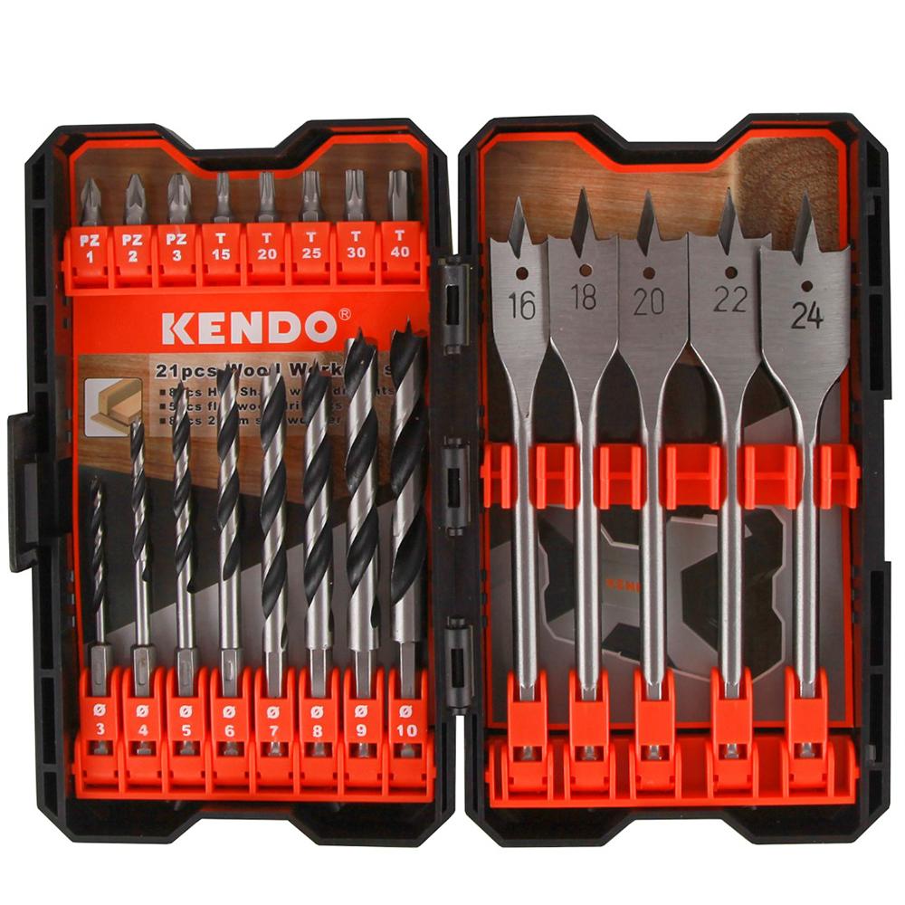 مجموعه 21 عددی مته و سری پیچ گوشتی کیندو مدل 321021