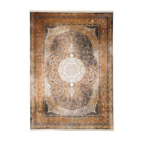 فرش ماشینی طرح رعنا کد 9073 زمینه طلایی