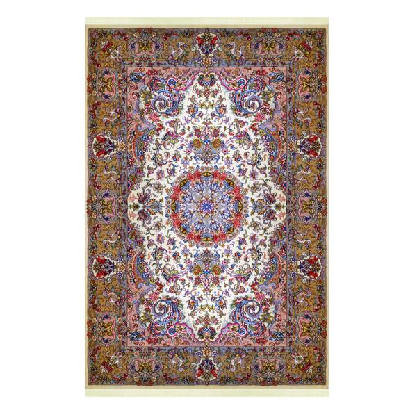 فرش دستباف شش متری مدل لچک ترنج کد 1022 یک جفت