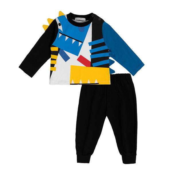 ست تی شرت و شلوار نوزادی فیورلا مدل 21213