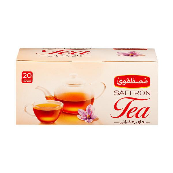 چای کیسه ای زعفرانی مصطفوی بسته 20 عددی