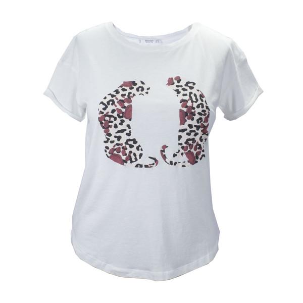تی شرت آستین کوتاه زنانه مانگو مدل W-002