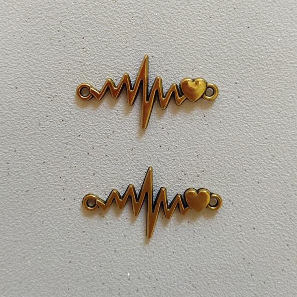 پلاک دستبند طرح ضربان کد HN1543 بسته 2 عددی