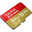 کارت حافظه microSDXC سن دیسک مدل Extreme کلاس A2 استاندارد UHS-I U3 سرعت 160MBps ظرفیت 64 گیگابایت thumb 1