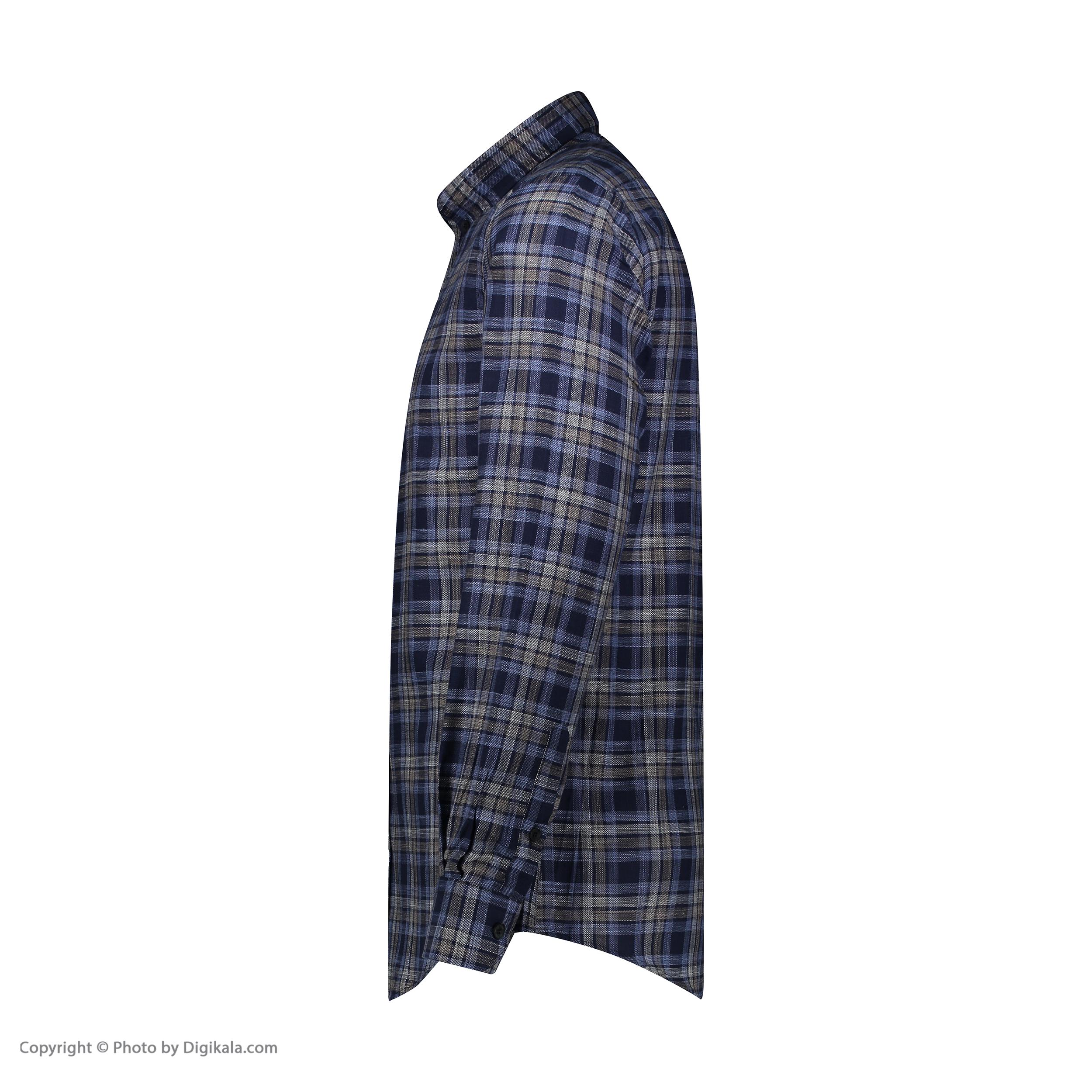 پیراهن آستین بلند مردانه ال سی من مدل 02141082-166