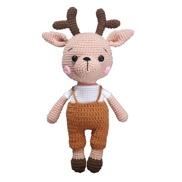 عروسک بافتنی مدل گوزن کد 01