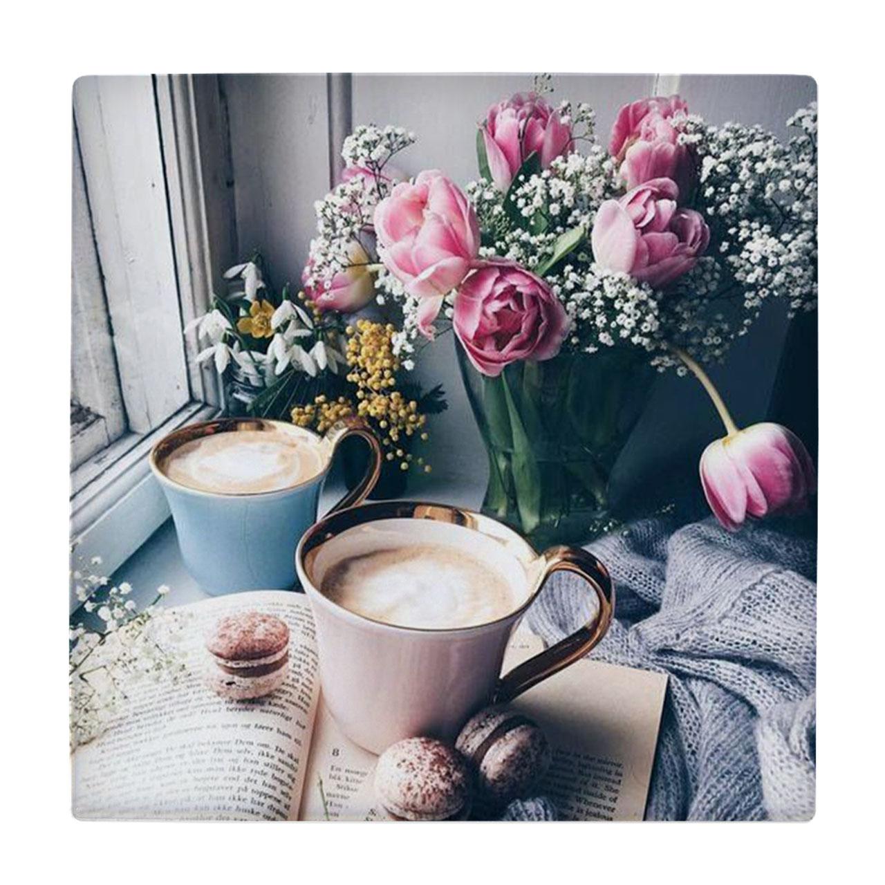 خرید                      کاشی طرح گلدان و فنجان کد wk555