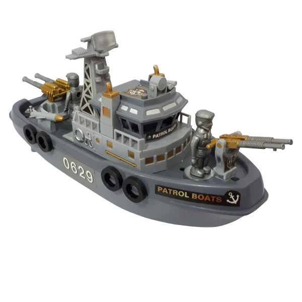 کشتی اسباب بازی طرح ناو جنگی مدل MARINE PATROL BOAT کد 0629