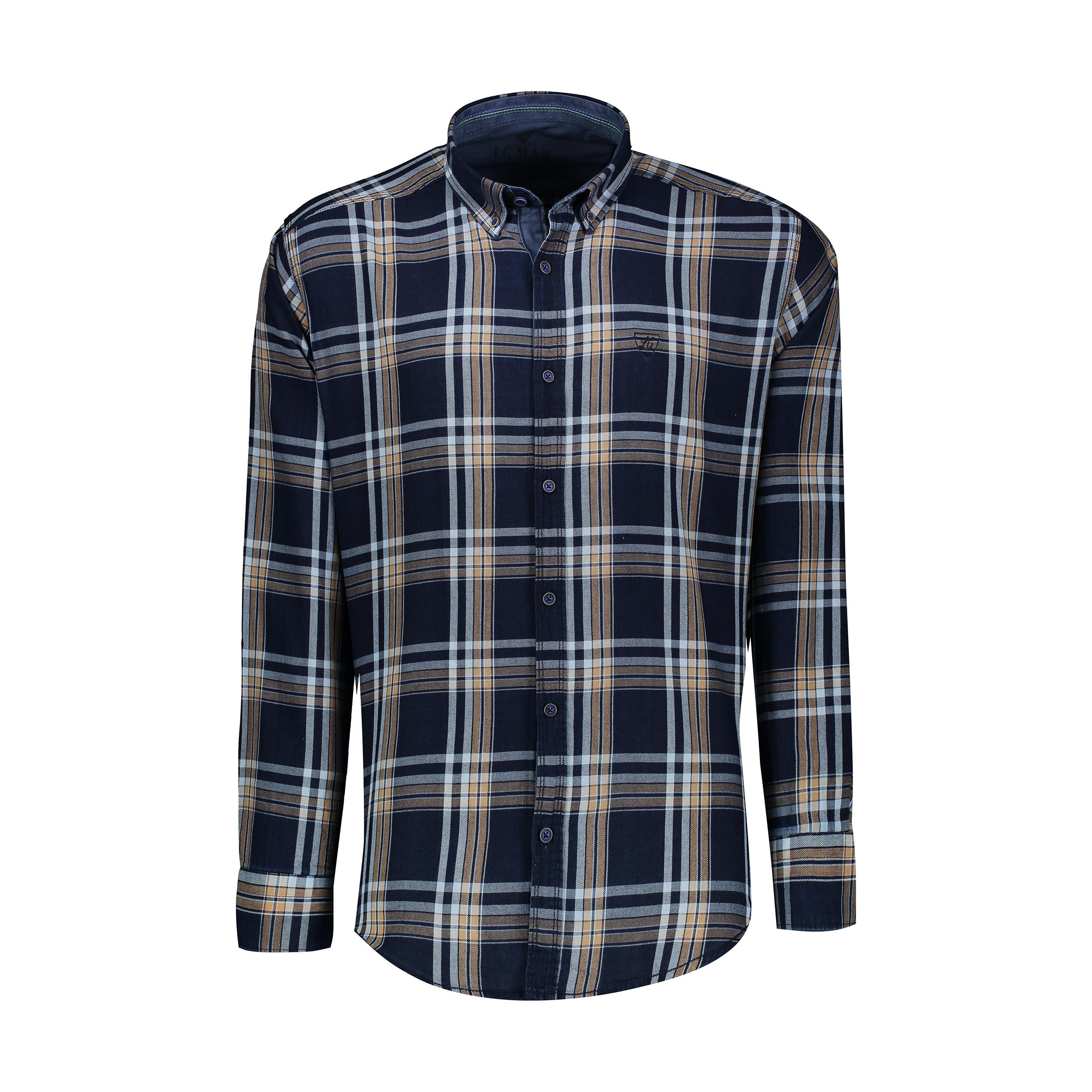 پیراهن آستین بلند مردانه ال سی من مدل 02141079-056