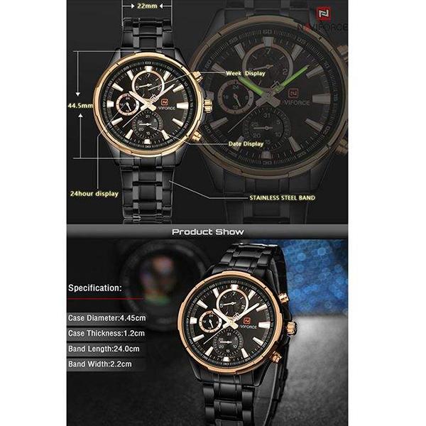 ساعت مچی عقربهای مردانه نیوی فورس مدل NF9089M RGG