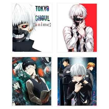 آویز تزیینی طرح انیمه مدل Tokyo Ghoul2 مجموعه 4 عددی
