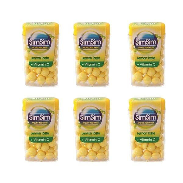 قرص خوشبو کننده دهان سیم سیم مدل لیمو مجموعه 6 عددی