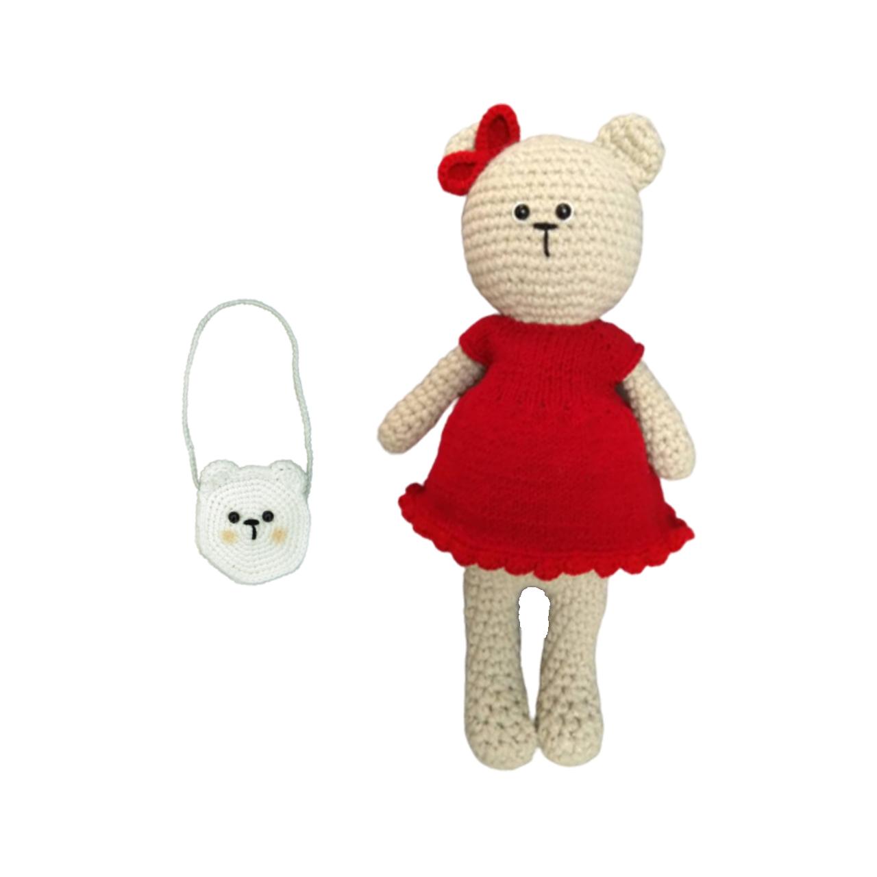 خرید                      عروسک بافتنی مدل خرس کد 600
