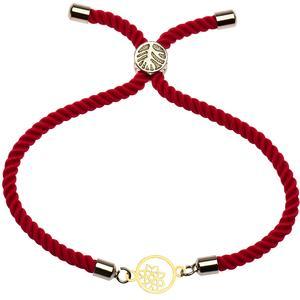 دستبند طلا 18 عیار دخترانه کرابو طرح گل و ستاره مدل Krd1137
