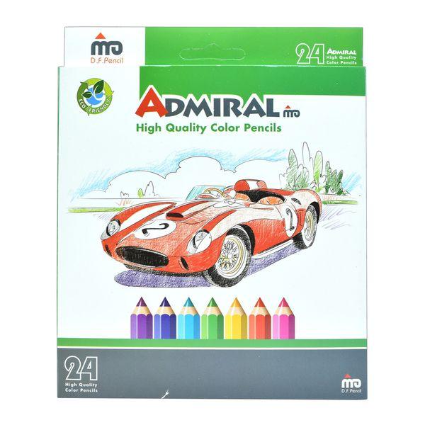 مداد رنگی 24 رنگ آدمیرال مدل Car