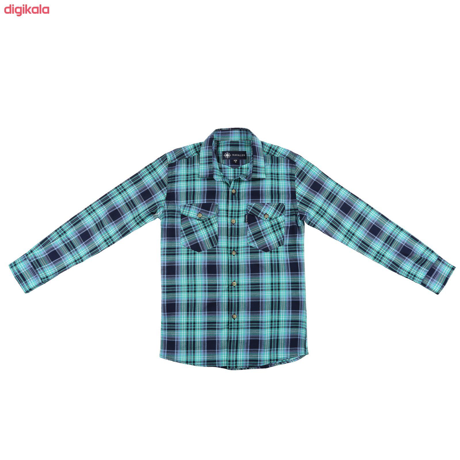 پیراهن پسرانه ناوالس کد R-20119-GN main 1 1