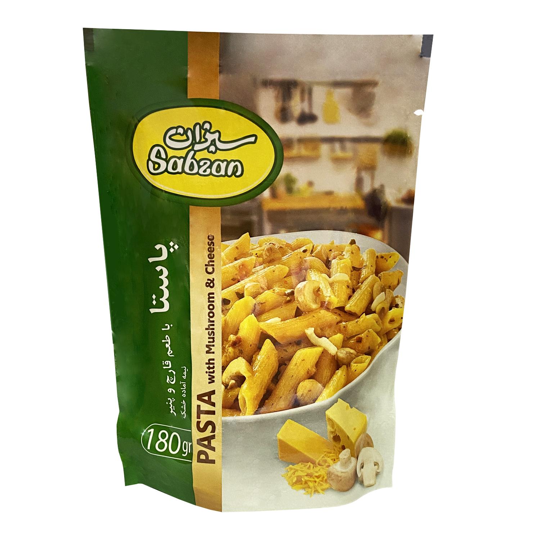 پاستا با طعم قارچ و پنیر  سبزان - 180 گرم