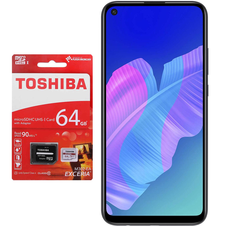گوشی موبایل هوآوی مدل Huawei Y7p ART-L29 دو سیم کارت ظرفیت 64 گیگابایت به همراه کارت حافظه microSDXC توشیبا ظرفیت 64 گیگابایت