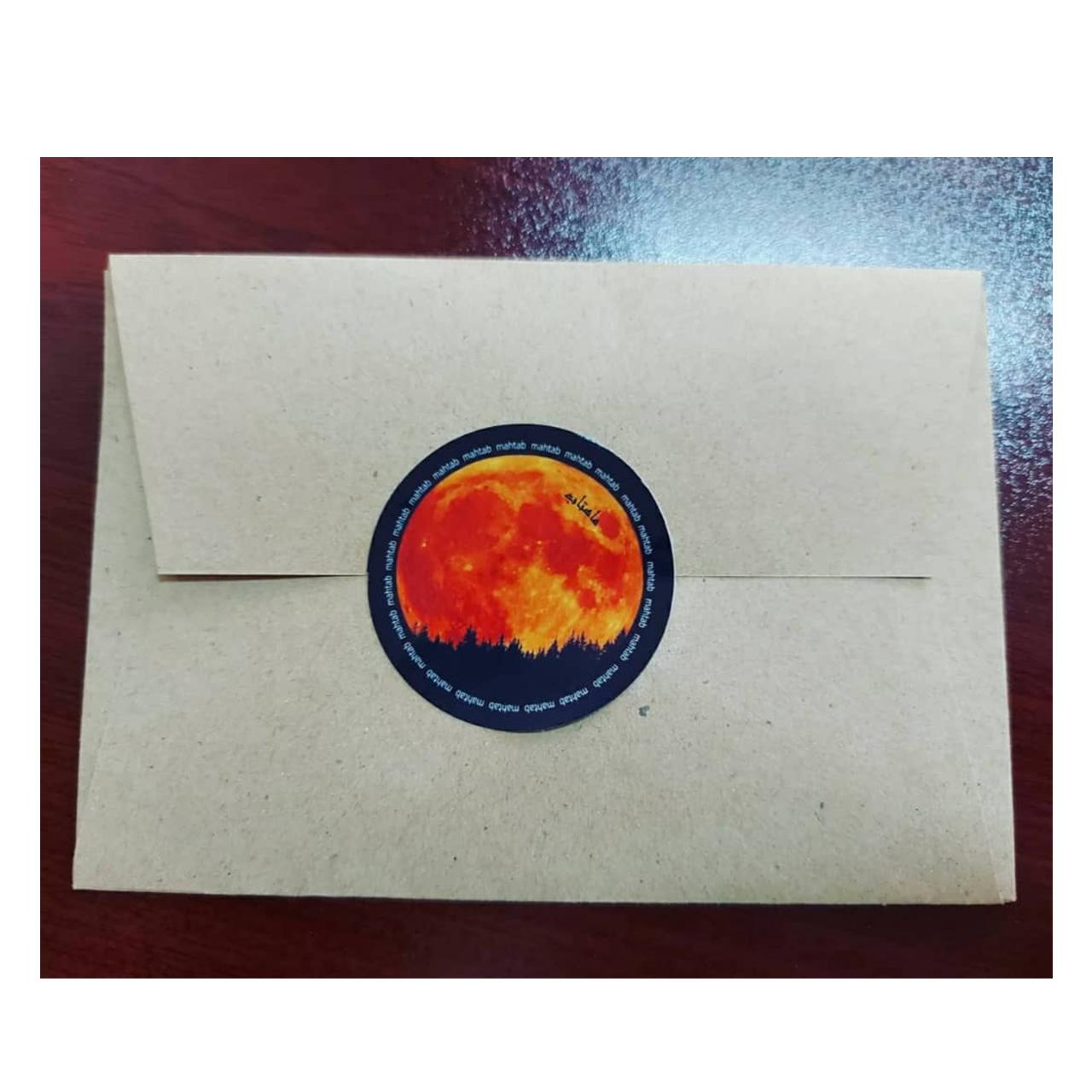 کارت پستال ماهتاب طرح دوست دارم کد 1906