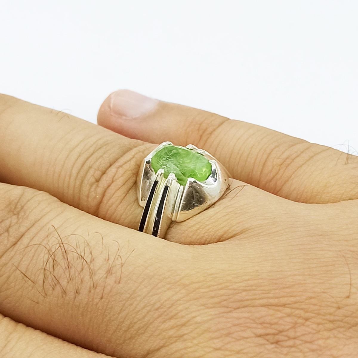 انگشتر نقره مردانه سلین کالا مدل زبرجد ce-As174