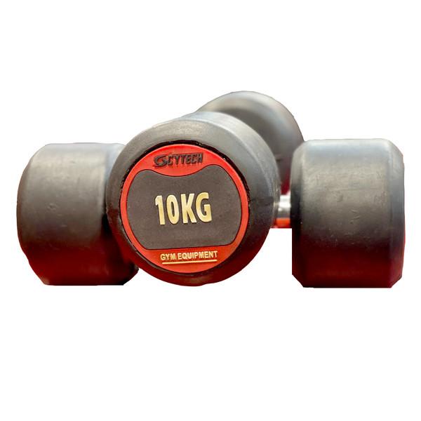 دمبل  مدل  گرد وزن 10 کیلوگرم کد 121 بسته 2 عددی