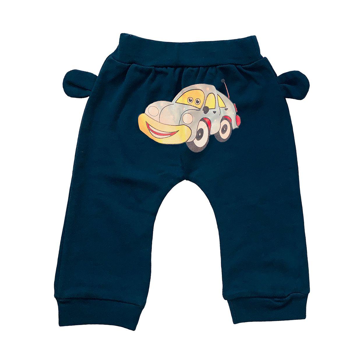 ست تی شرت و شلوار نوزادی طرح ماشین کد FF-078 -  - 4