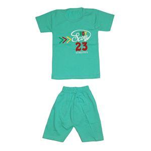ست تی شرت و شلوارک دخترانه کد 4444SB